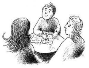 gezellig gesprek